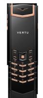 Vertu Signature S Design Pure Black Red Gold